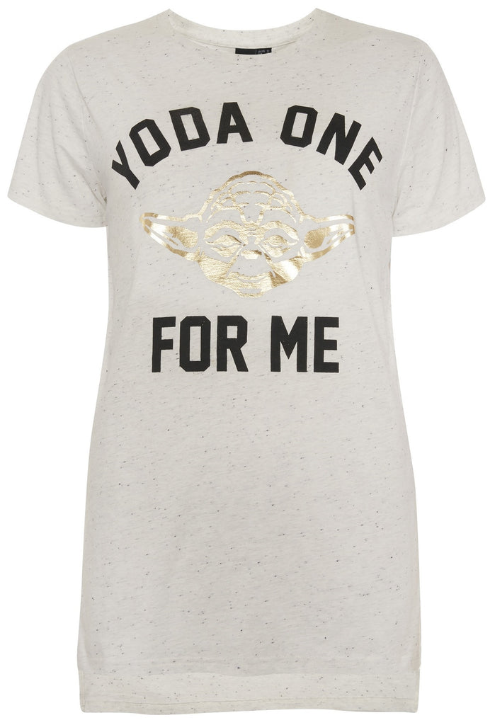 Primark Star Wars T Shirt 'Yoda one for me' Womens Ladies UK 6-20 NEW - Click. Buy. Love. - 1