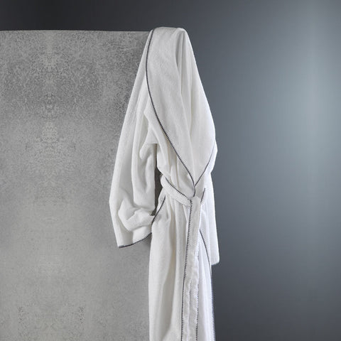 BORDADO SHAWL COLLAR ROBE