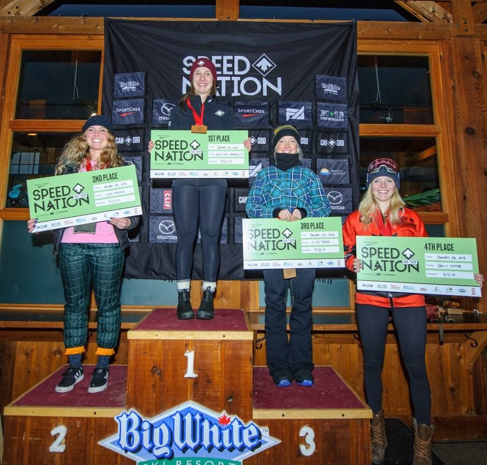 Ellise Turner - Third Place in Round 1 of the 2018 Speed Nation Snowboarding Tour at Big White.