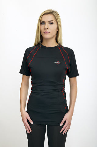 - Women's T-Shirt Heated Base Layer - Warm and Safe Heated Clothing for Motorcycling, work and recreation