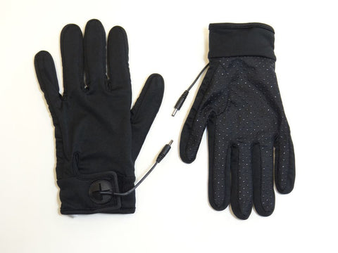 Heated Glove Liners with Grip 7.4 Volt including Battery, Lanyard, Charger and Pouch - Warm and Safe Heated Clothing for Motorcycling, work and recreation