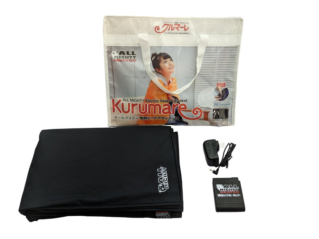Kurumare Portable Battery Powered Heated Blanket Warm And Safe