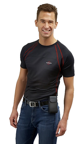 - Men's T-Shirt Heated Base Layer - - Warm and Safe Heated Clothing for Motorcycling, work and recreation