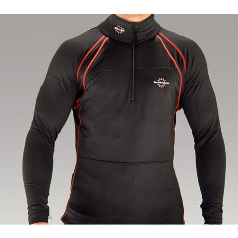 Anti Static and Flame Proof Baselayer Jacket Liner - Warm and Safe Heated Clothing for Motorcycling, work and recreation