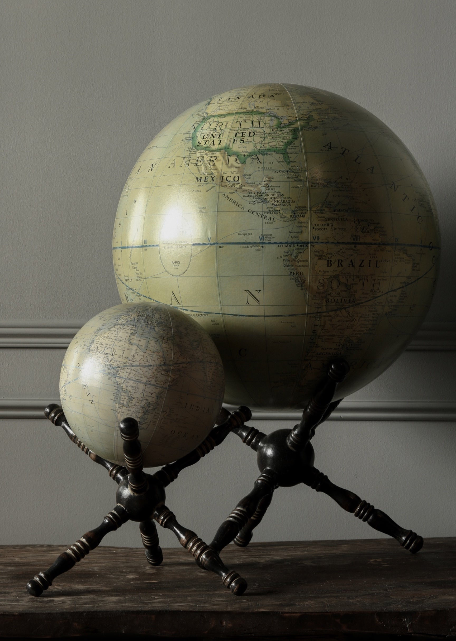 Earth globe on stand