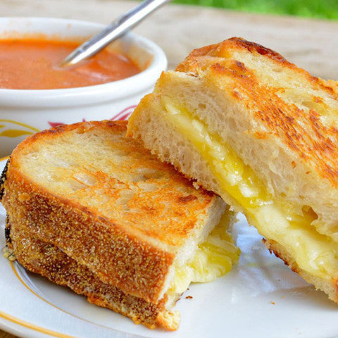 Soup and 3-Cheese Grilled Cheese