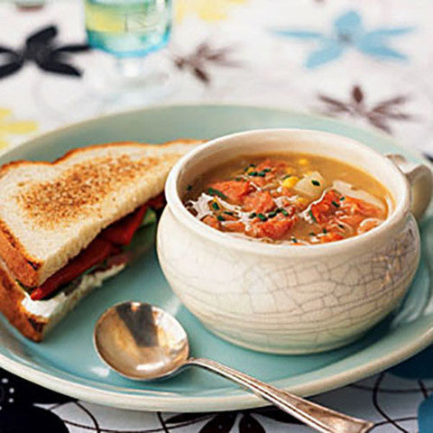 Soup and Half Sandwich