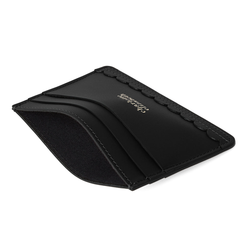 Scallop Card Holder in Black