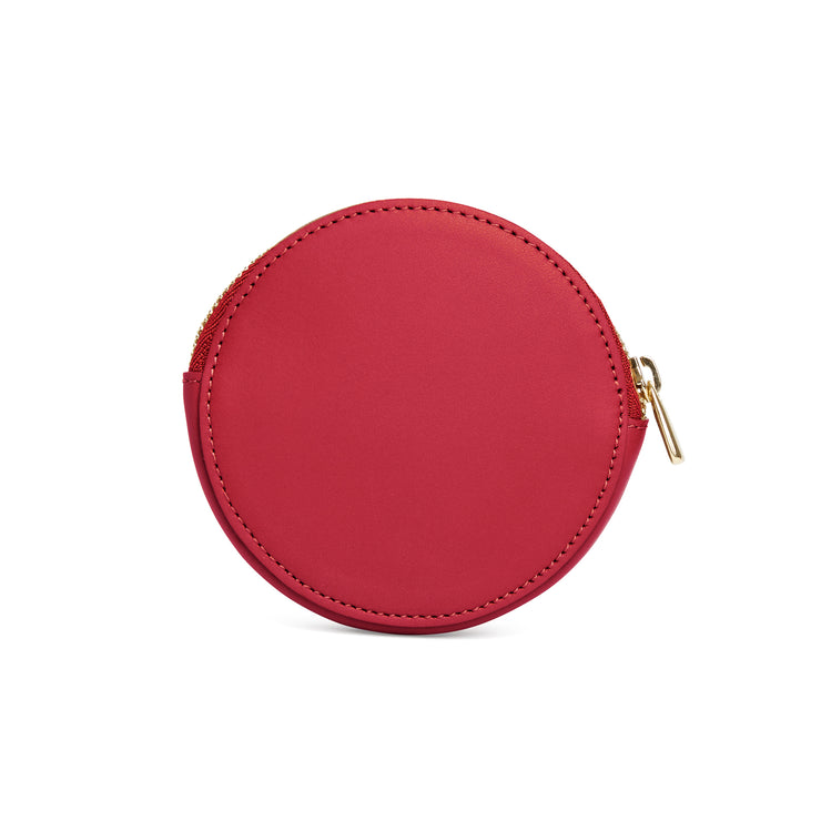Scallop Coin Purse in Rhubarb-accessories-luxury wallet pouch facemask airpod holder-Charlotte Elizabeth
