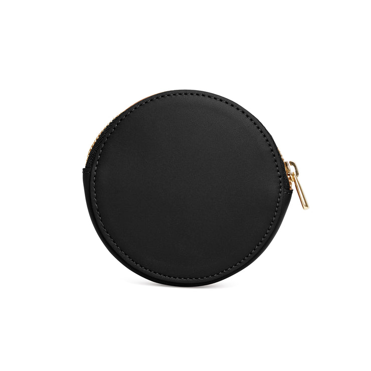 Scallop Coin Purse in Black-accessories-luxury wallet pouch facemask airpod holder-Charlotte Elizabeth