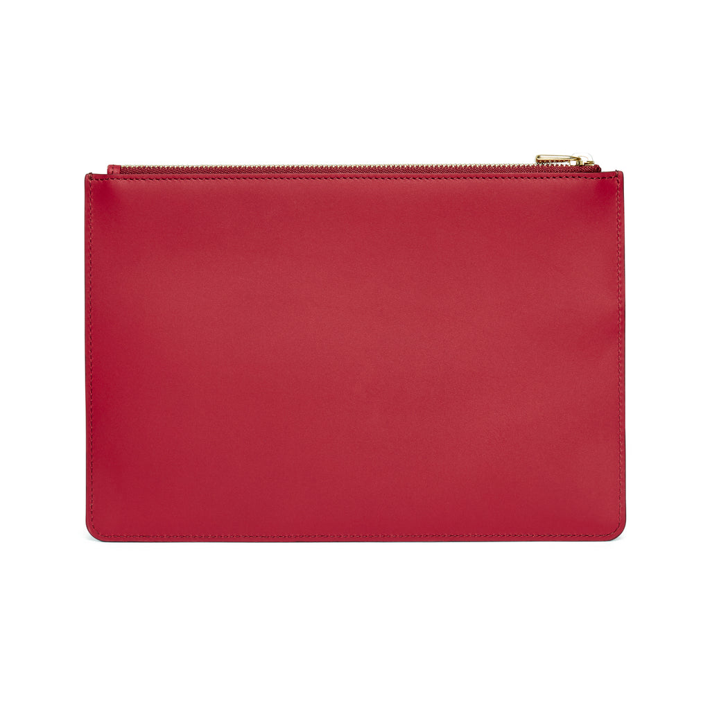 Scallop Travel Wallet in Rhubarb - Charlotte Elizabeth