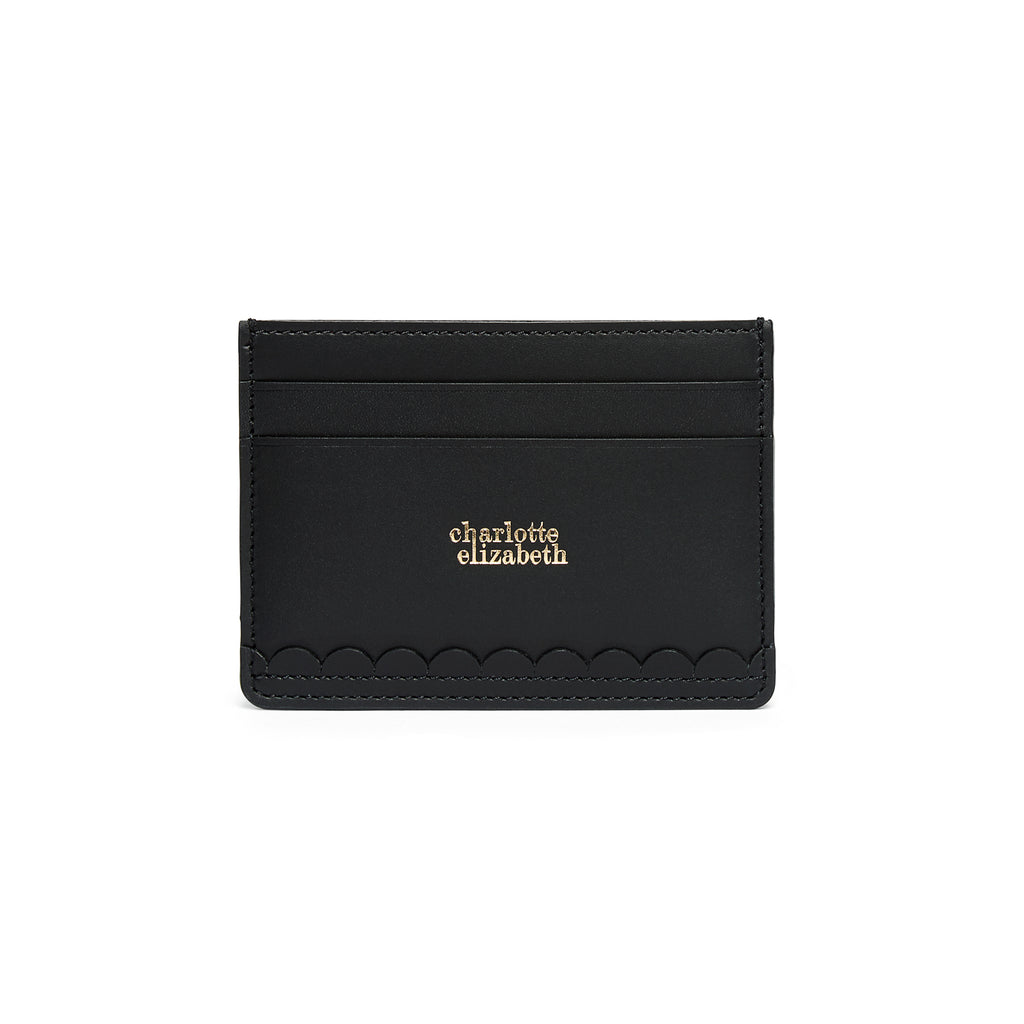 Scallop Card Holder in Black - Charlotte Elizabeth