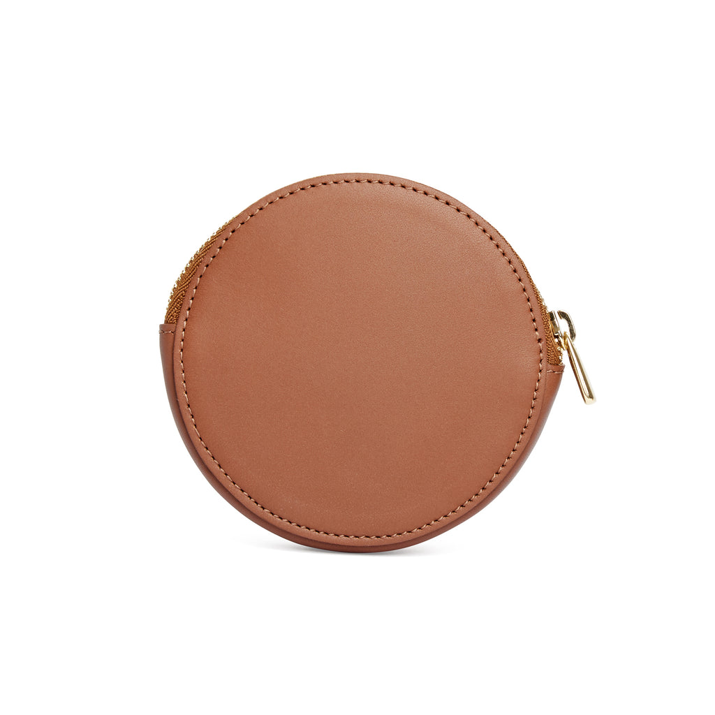 Scallop Coin Purse in Chestnut