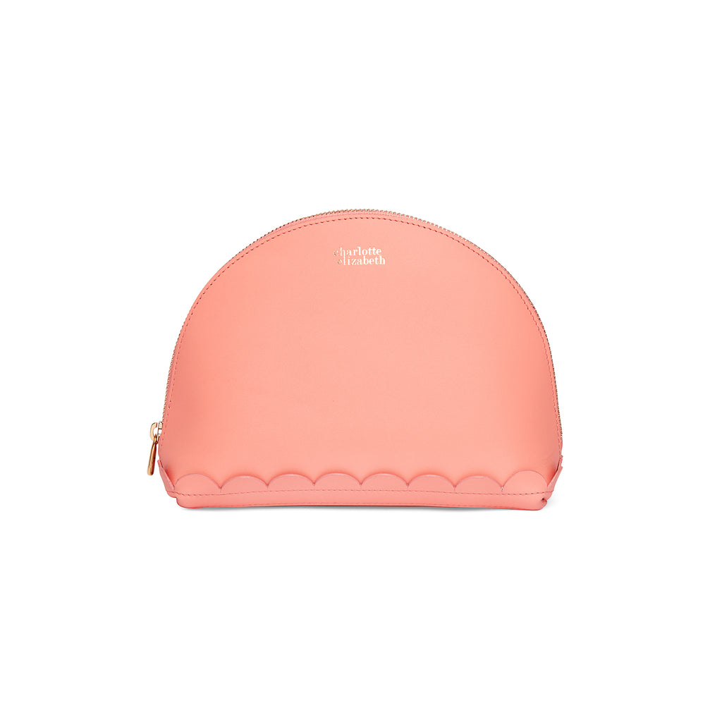 Scallop Cosmetic Pouch in Shrimp