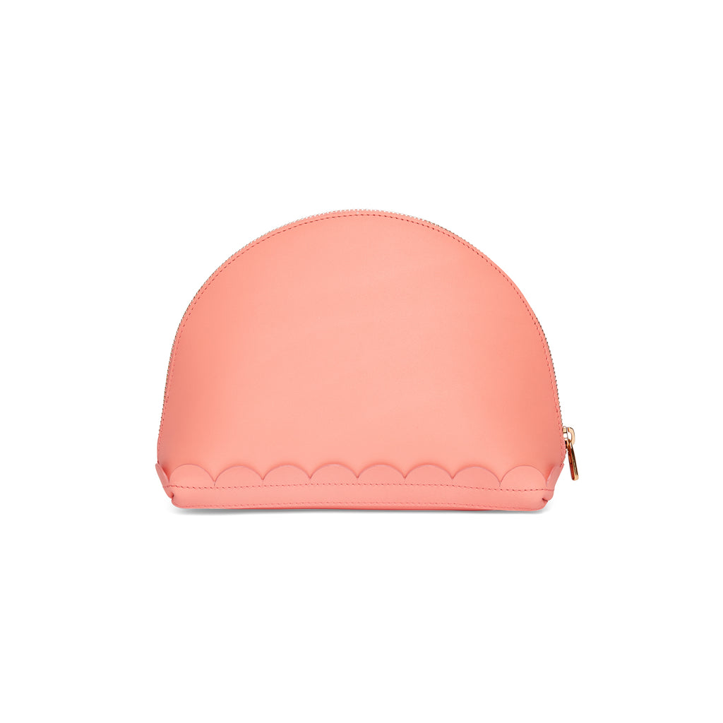 Scallop Cosmetic Pouch in Shrimp - Charlotte Elizabeth