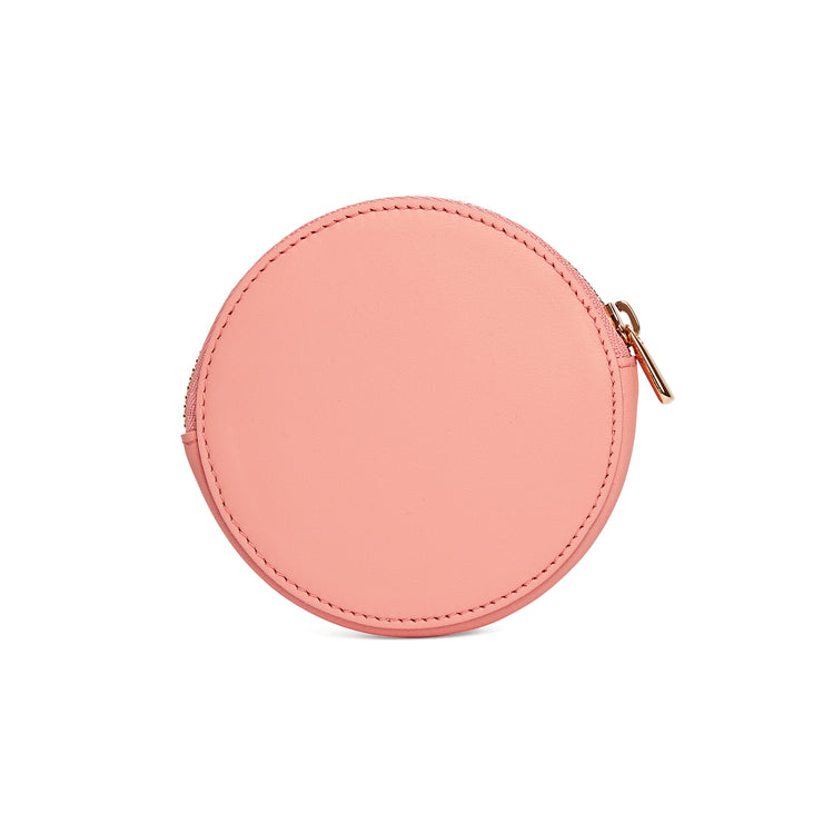Scallop Coin Purse in Shrimp-accessories-luxury wallet pouch facemask airpod holder-Charlotte Elizabeth