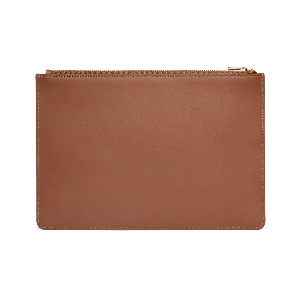 Scallop Travel Wallet in Chestnut - Charlotte Elizabeth