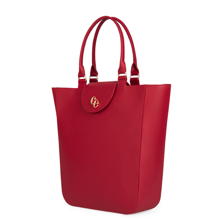 The Emma in Rhubarb-Handbags-Luxury Leather Laptop British Tote Bag-Charlotte Elizabeth