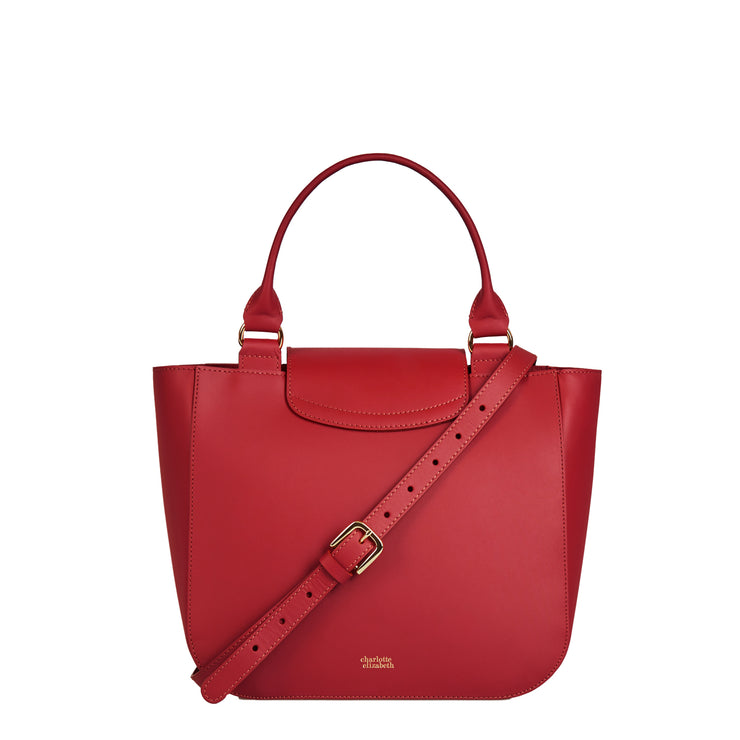 The Alicia in Rhubarb-Handbags-crossbody luxury leather british ladies purse-Charlotte Elizabeth
