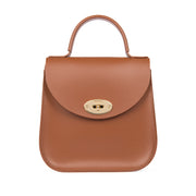 The Chestnut Bloomsbury-Crossbody ladies luxury leather handbag british-Charlotte Elizabeth