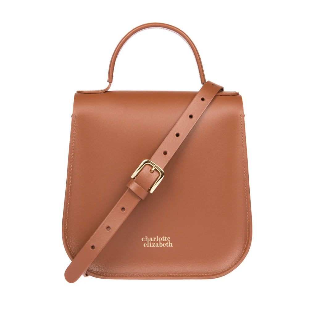 Chestnut Tan Brown Leather Ladies Luxury Designer Handbag Bloomsbury London Design