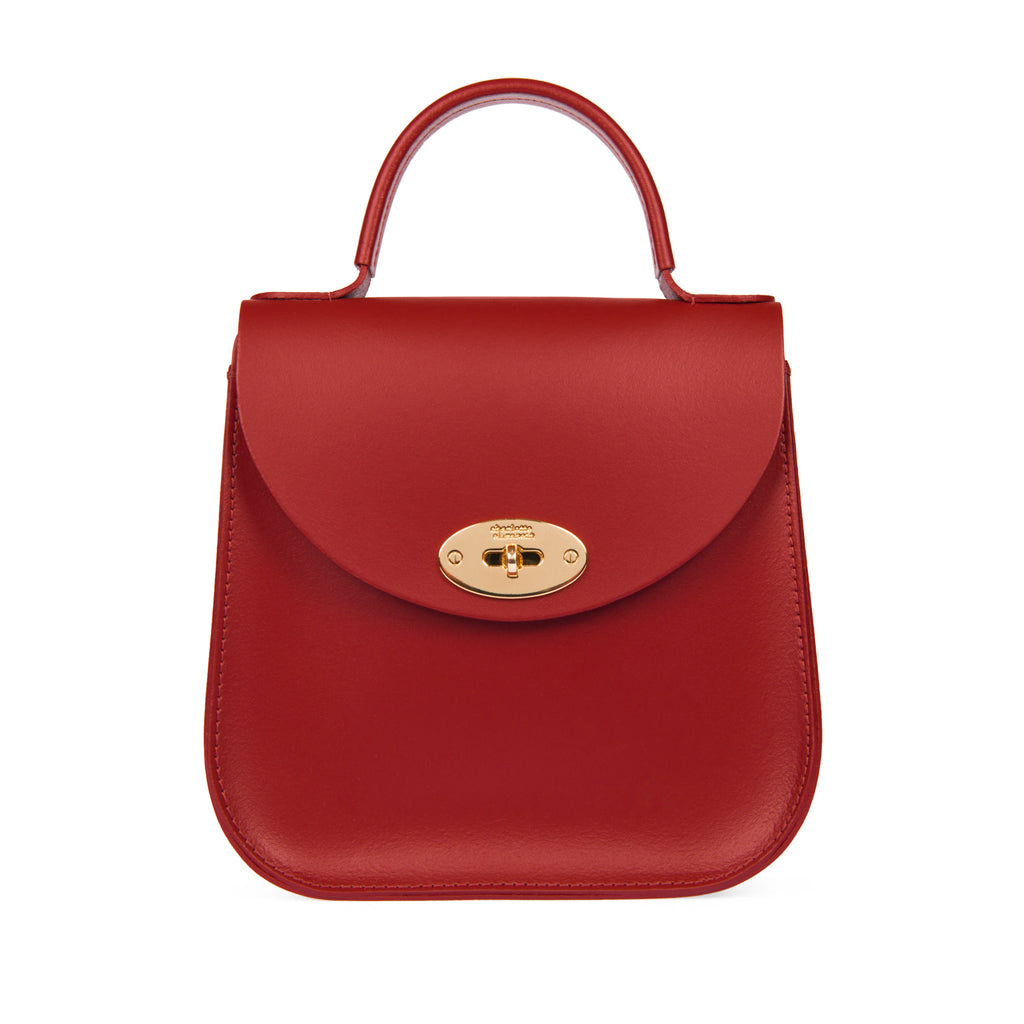 The Red Bloomsbury-Crossbody ladies luxury leather handbag british-Charlotte Elizabeth