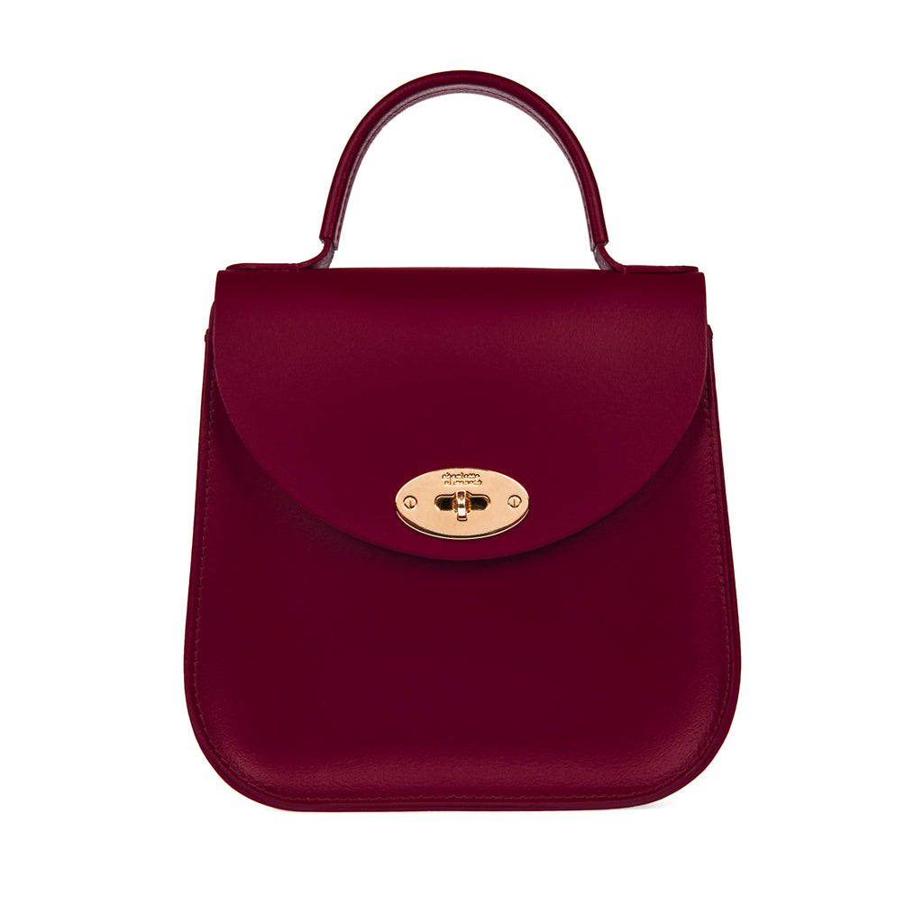 The Oxblood Bloomsbury Handbag Satchel Leather Cross Body Purse