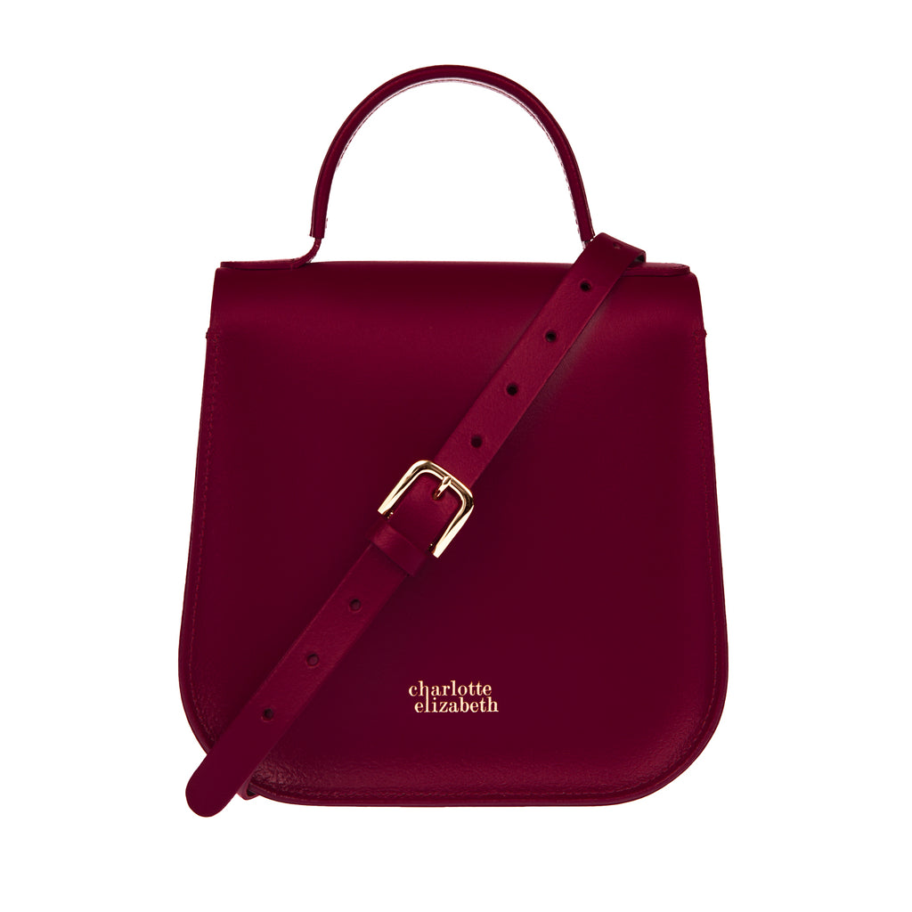 Burgundy Ladies Luxury Designer British Handbag