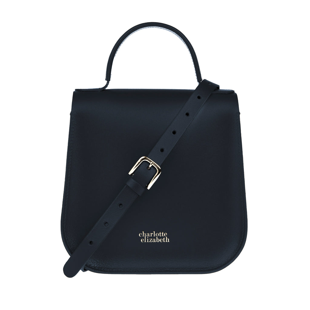 The Midnight Bloomsbury-Crossbody ladies luxury leather handbag british-Charlotte Elizabeth