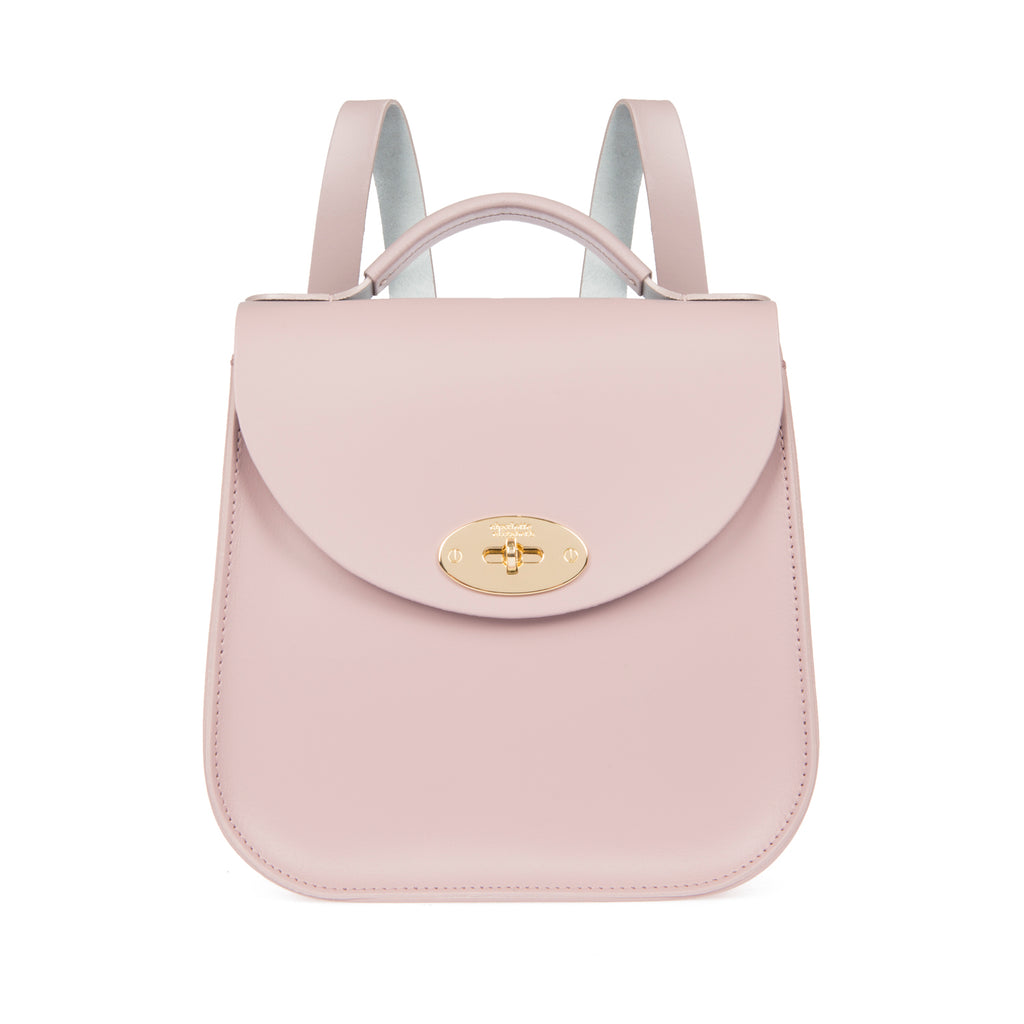 The Pink Bloomsbury Backpack-Handbags-british ladies handmade leather artisan handbag luxury-Charlotte Elizabeth