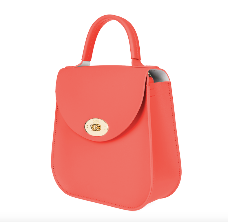 The Coral Bloomsbury-Crossbody ladies luxury leather handbag british-Charlotte Elizabeth