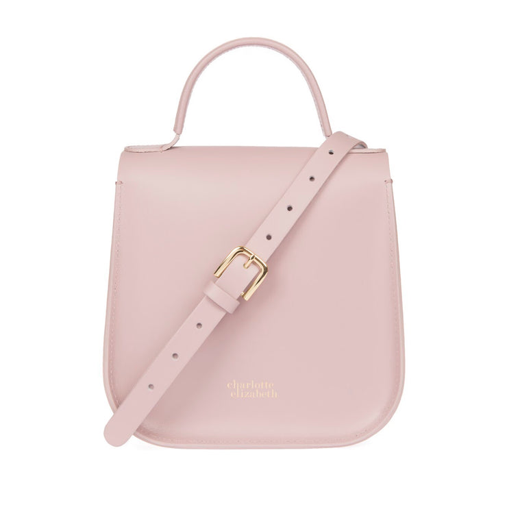 The Pink Bloomsbury-Crossbody ladies luxury leather handbag british-Charlotte Elizabeth