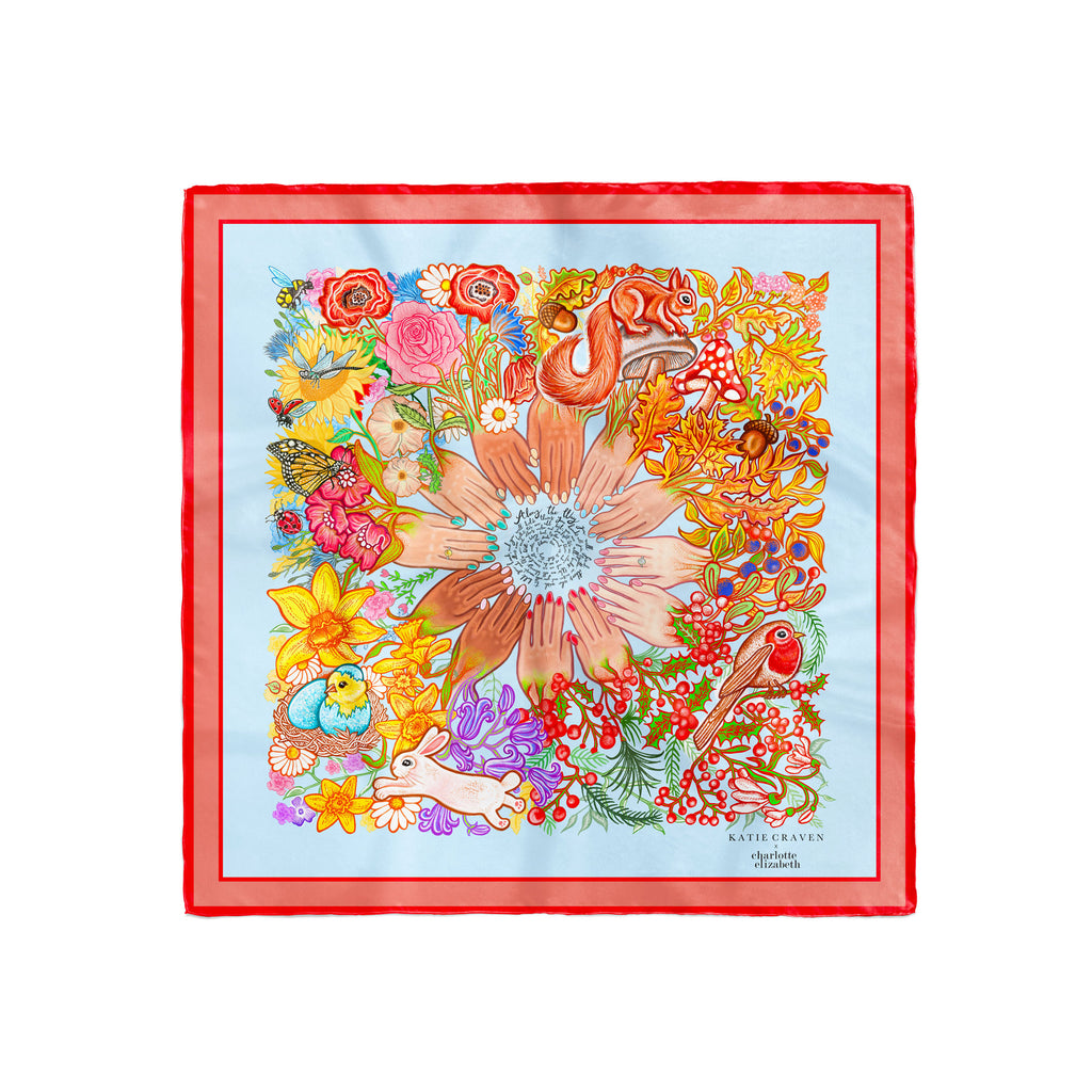 'The Helping Hand' Silk Scarf - Charlotte Elizabeth x Katie Craven