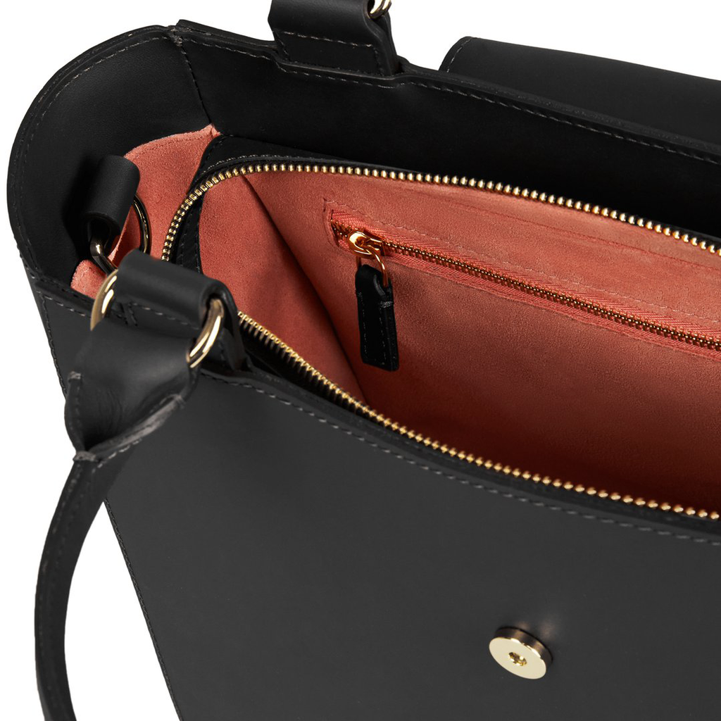 The Alicia in Black-Handbags-crossbody luxury leather british ladies purse-Charlotte Elizabeth