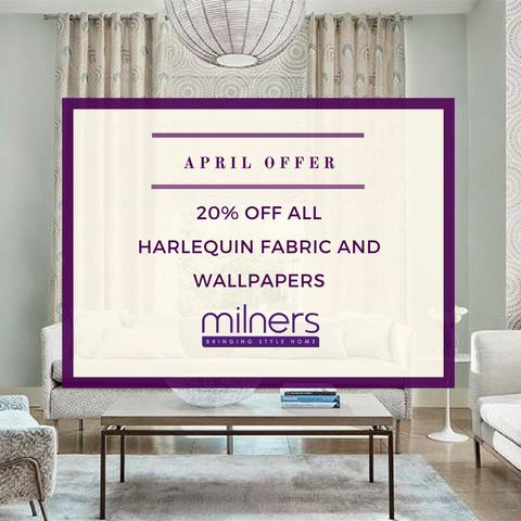 20% off all Harlequin fabric and wallpapers