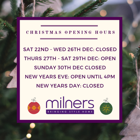 Milners xmas opening hours