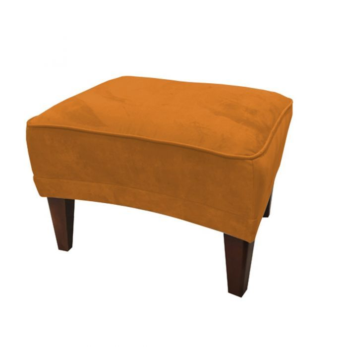 Romeo Velvet Burnt Orange Footstool