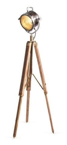 Spotlight - Two Tone With Natural Wood Tripod