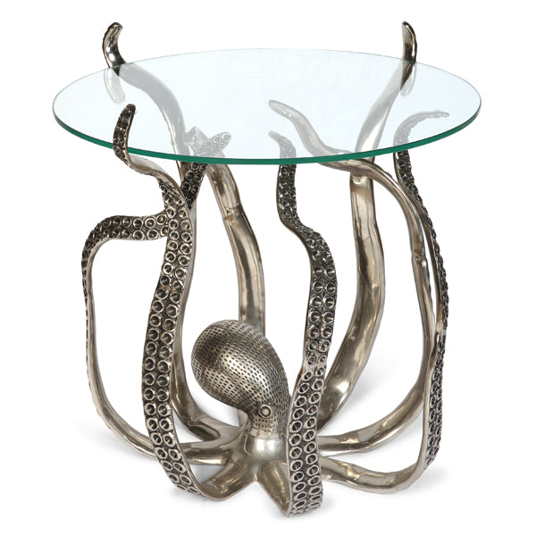 Large Octopus Table with Glass Top