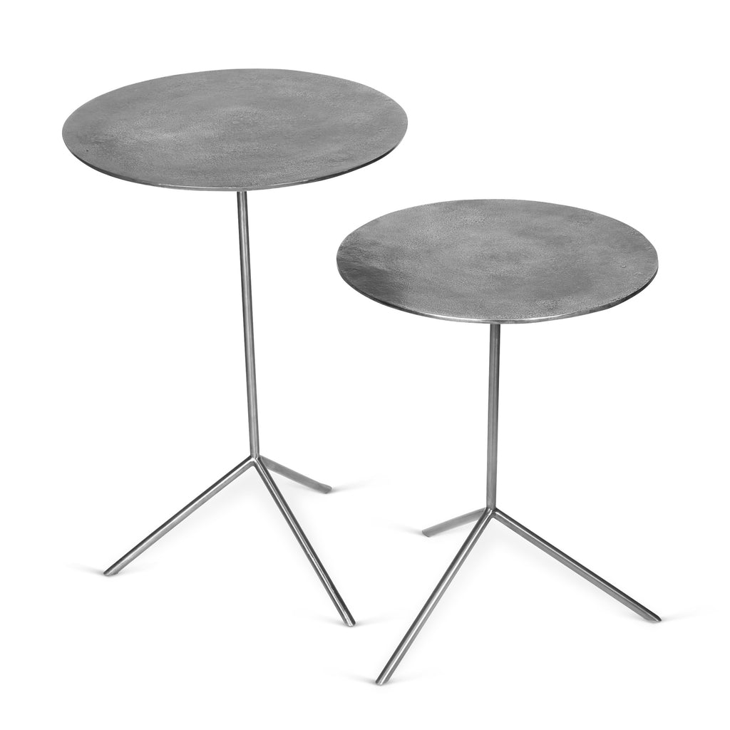 Easel Set of Two Side Tables