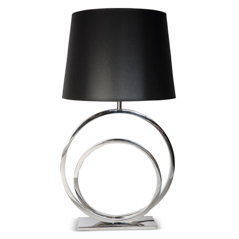 Concentric Circle Lamp With Black Shade