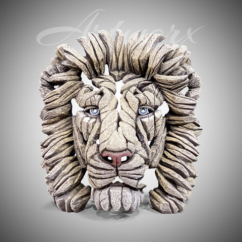 Lion Bust White
