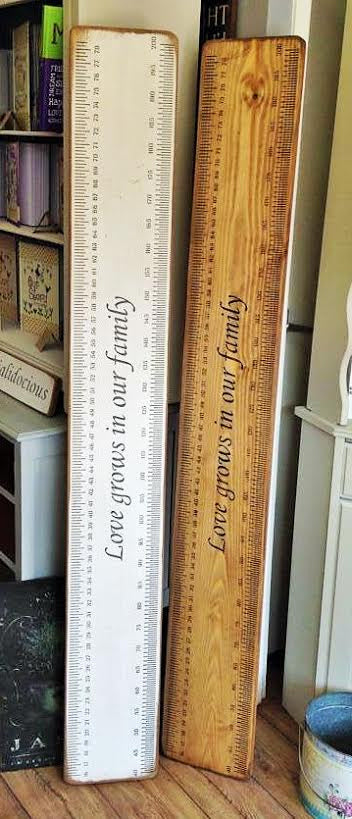 Handmade Solid Wood Family Height Measuring Chart
