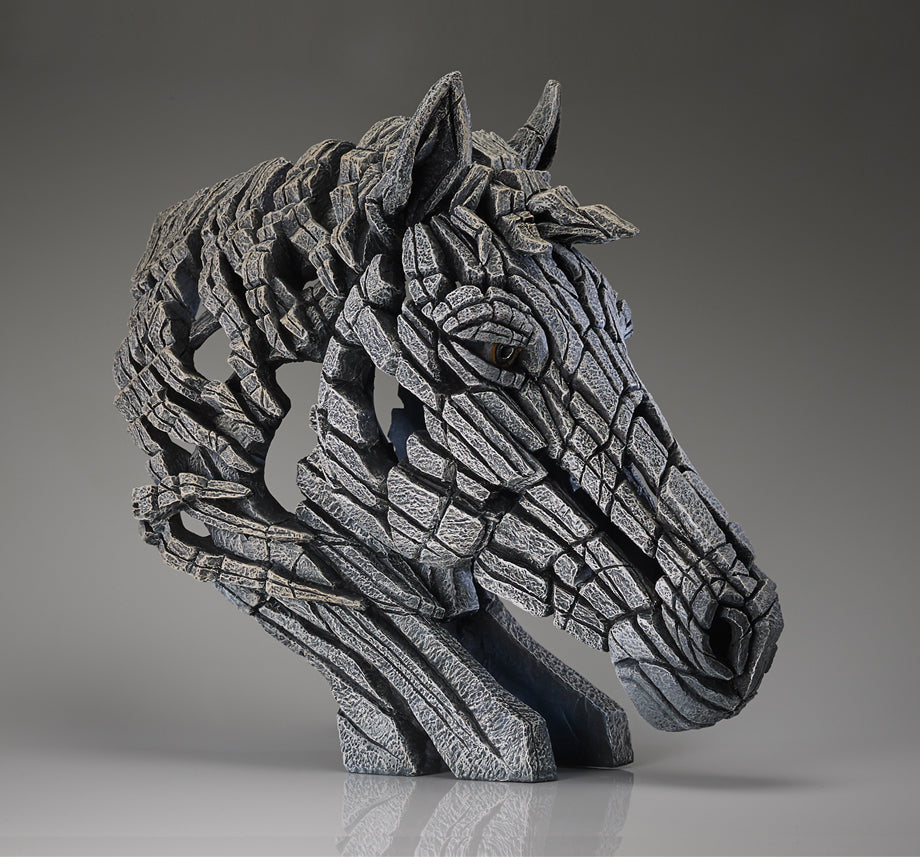 Horse Bust- White