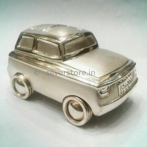 Silver Toy Car for Baby Gift