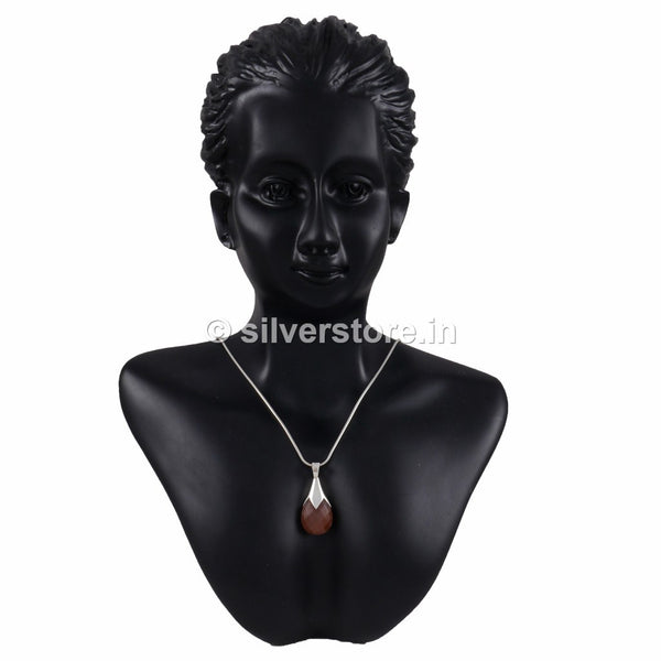Brown Glory Silver Pendant