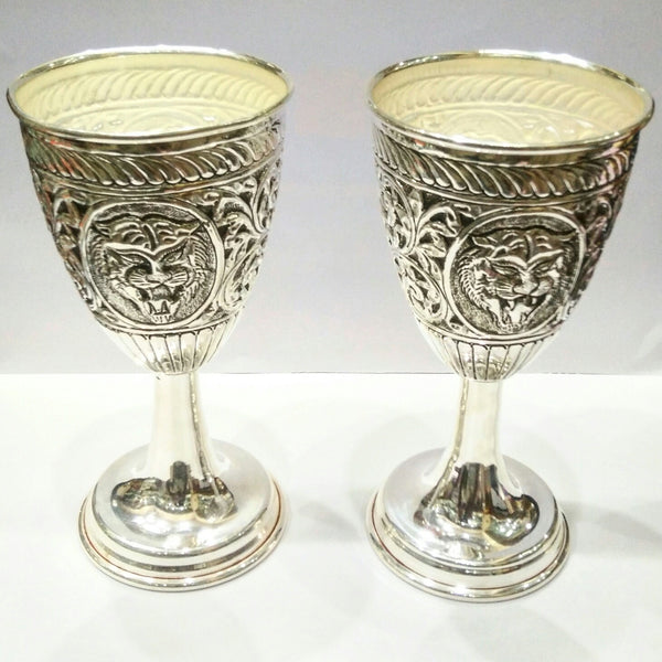 Buy antique silver wine glasses online at best price for Buy champagne glasses online