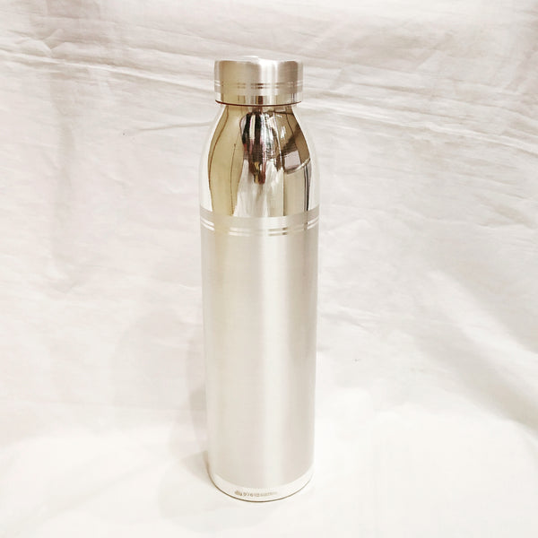 Pure Silver Water Bottle - 970 Bis hallmarked - 600 ml Capacity
