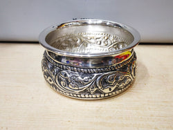 Silver Nakshi Bowl - antique finishing