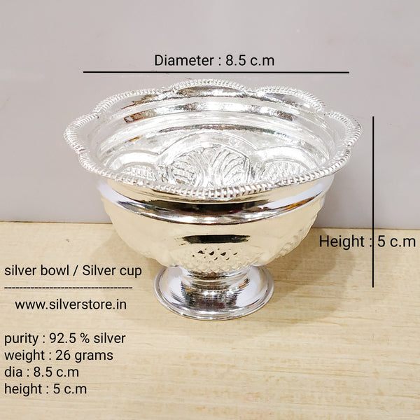 Silver bowl / Silver cup - 925 silver